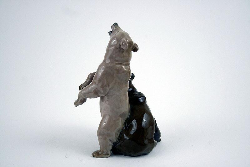 Meissen Figur spielende Braunbären Porzellan Prof. Hösel