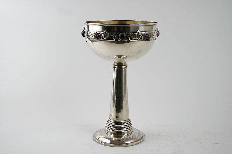 Grosser Jugendstil Silber Pokal  - Sabet Antiquitaeten Berlin