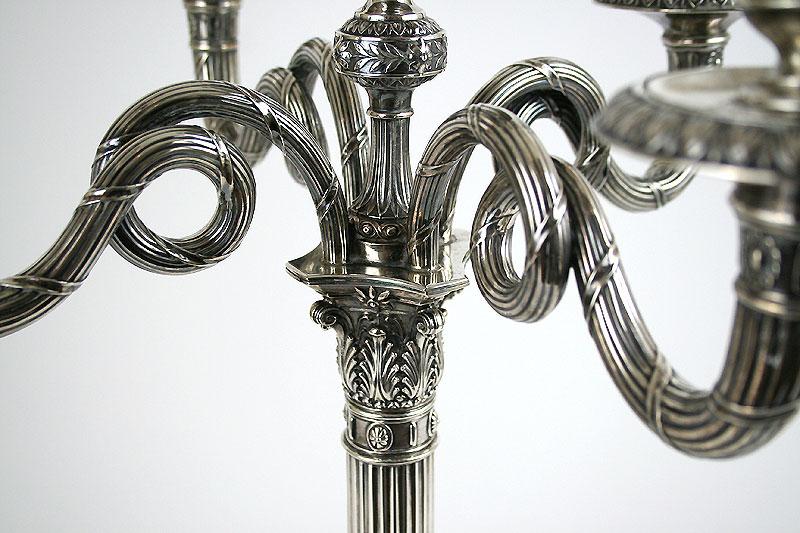 Empire-Stil Silber Leuchter - Sabet Antiquitäten Berlin