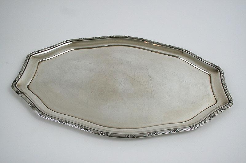 Schöne alte Servierplatte aus 800er Silber
