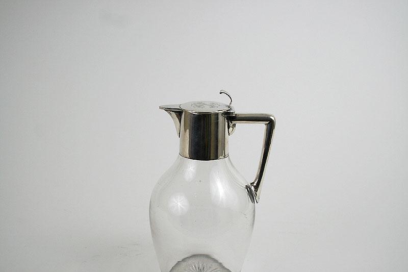 Glas Karaffe mit Silbermontierung - Sabet Antiquitaeten Berlin