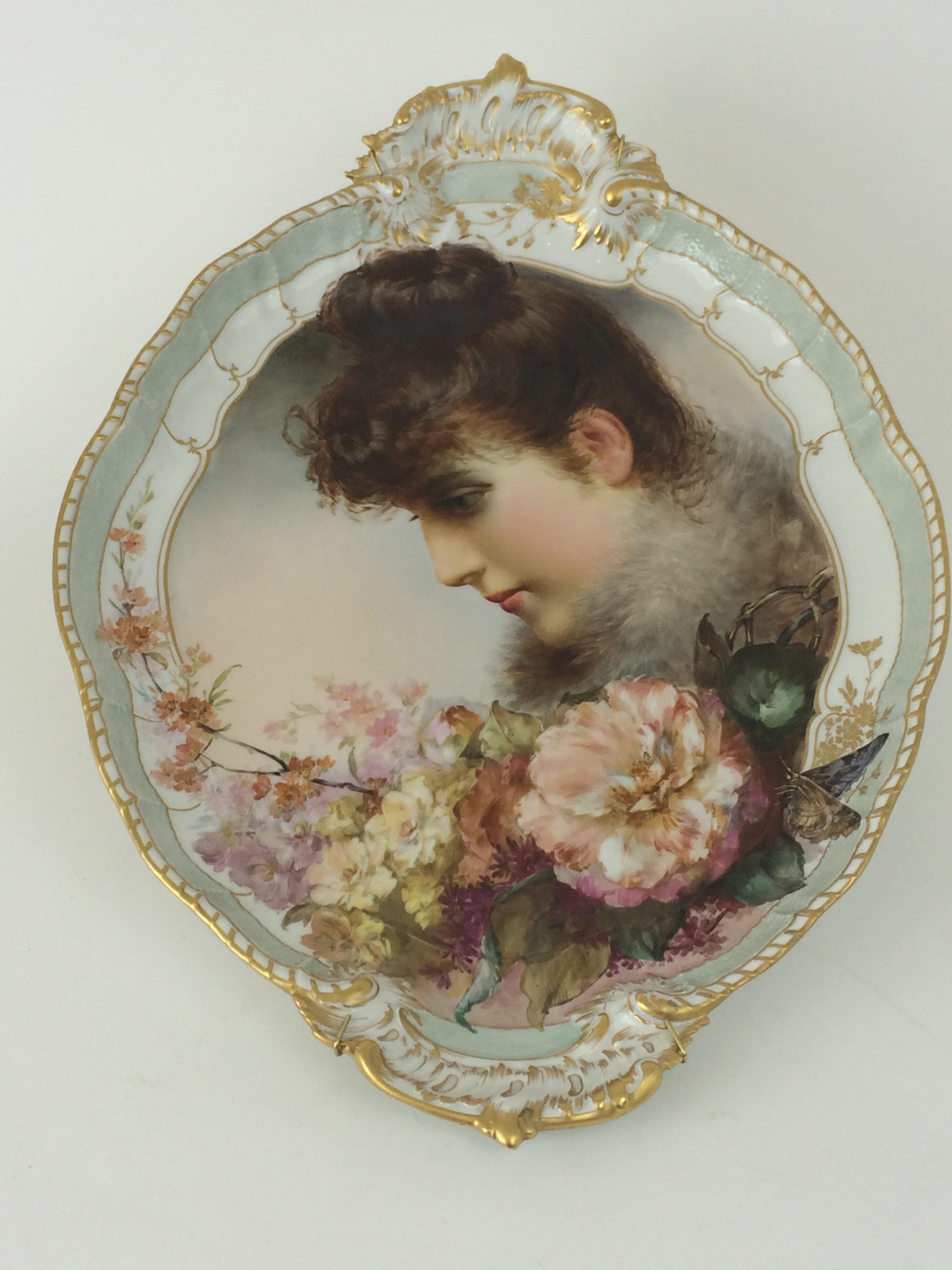 Weichmalerei Blumen und Damenportrait