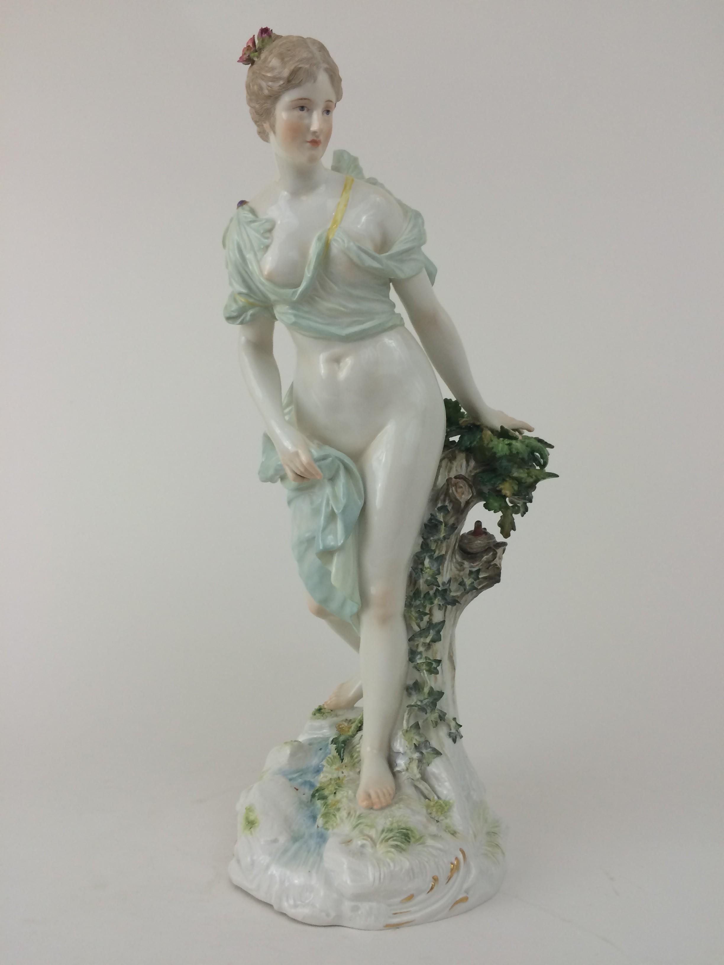 """Meissen Figur """"Quellennymphe"""" , Andressen"""