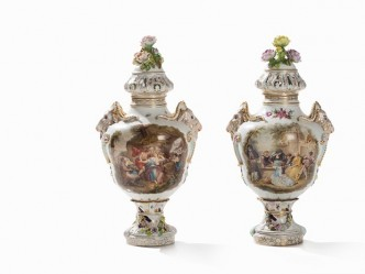 Dresden / Potschappel Vasen Paar