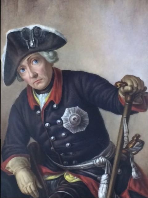 Friedrich II. Porzellanbildplatte KPM Berlin
