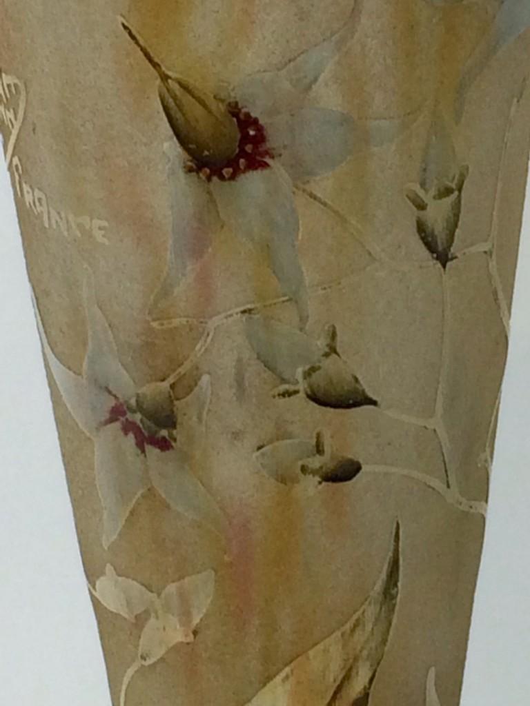 Daum Nancy France, Vase mit Blütendekor um 1918-25