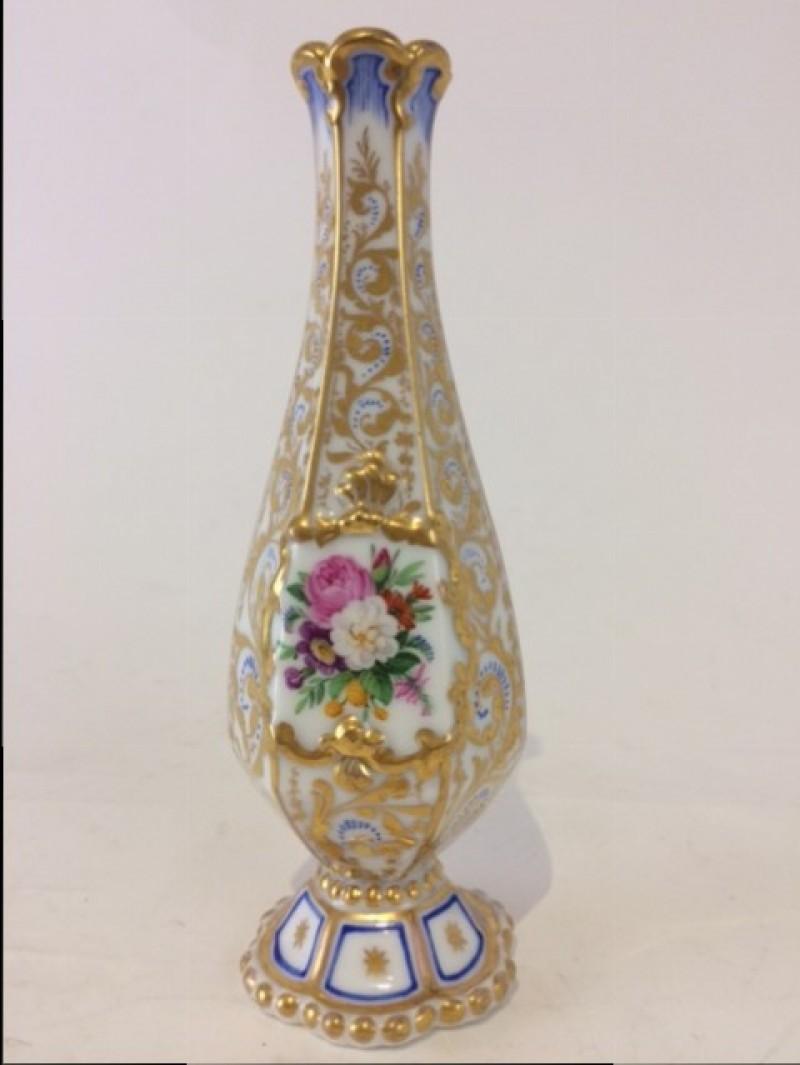 Prunkvolle Vase, KPM Berlin, selten, Pfenningmarke 1847-49, Höhe 18cm