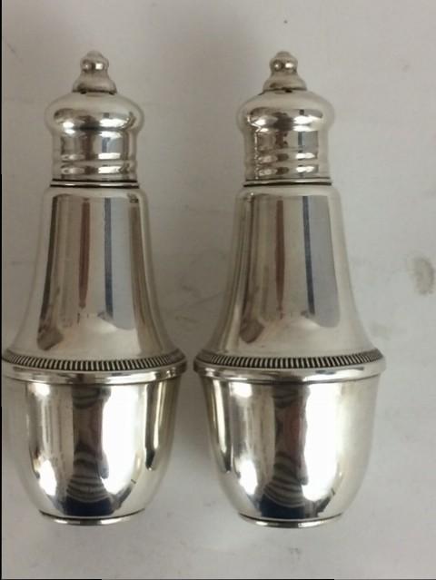 Silber Salz&Pfeffer Streuer mit Glaseinsatz