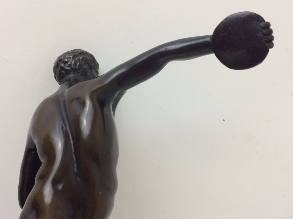 """Kleine Bronzefigur """"Der Diskuswerfer"""""""