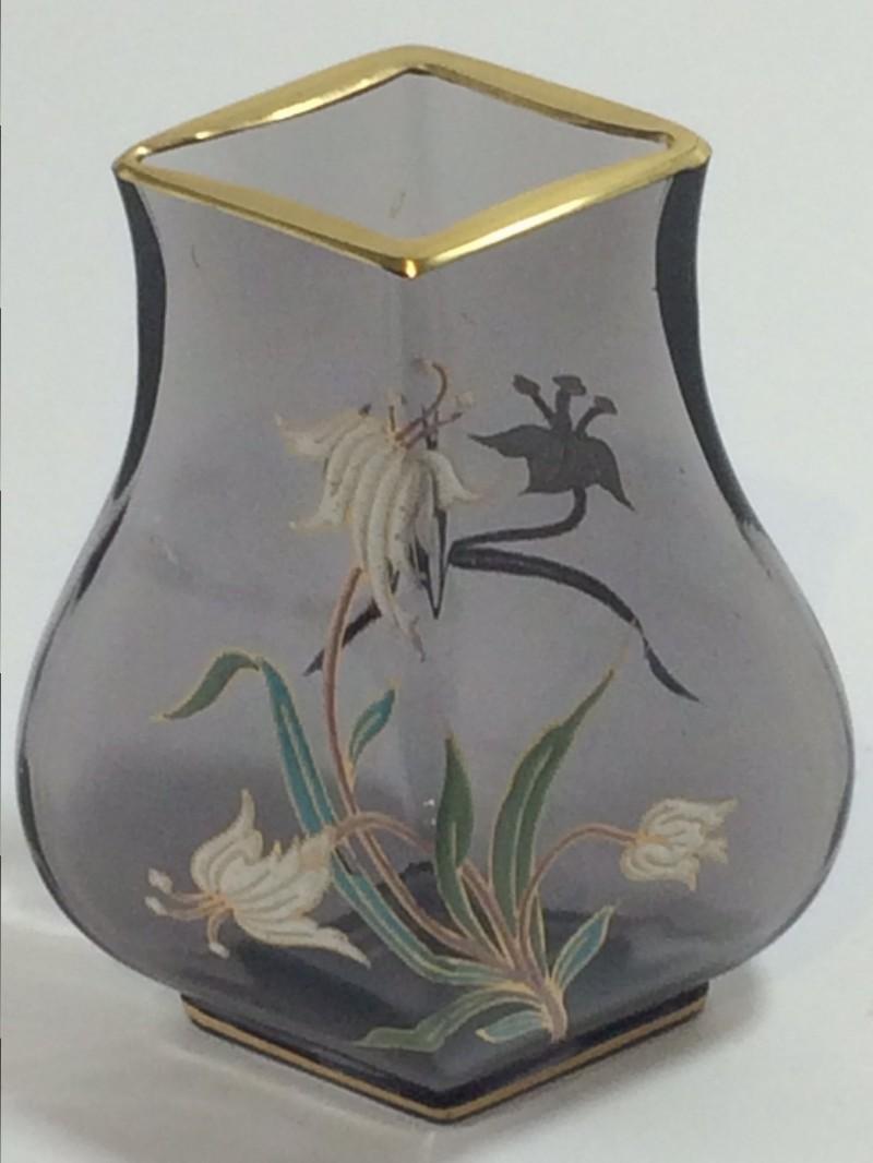 E. Gallè, Jugendstil Vase mit Emailblumen-Dekor um 1890