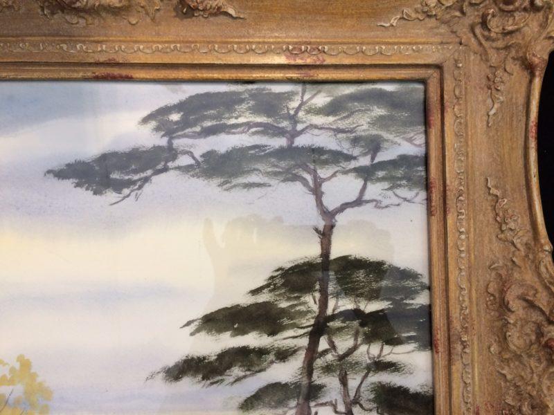 """Willy Herrmann, Pastell """"Leuchtende Landschaft"""""""