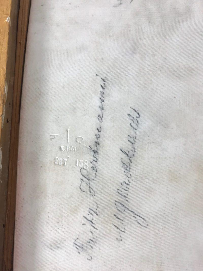 """KPM Berlin Porzellanbild """"RUTH"""", signiert """"Wagner"""""""