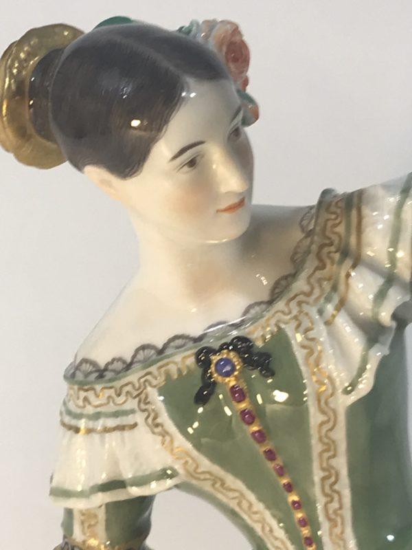 Tänzerin-Figur Fanny Elssler, Meissen um 1900, Jean Auguste Barre