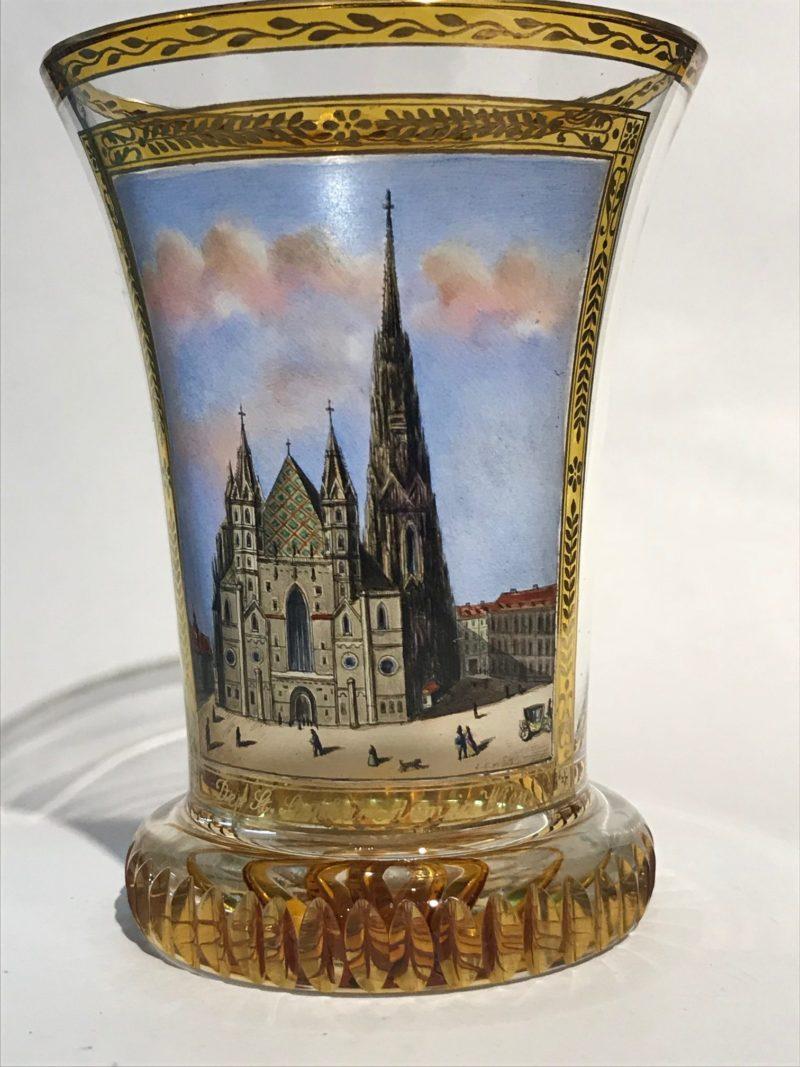 """Ranftbecher """"Domkirche zu St. Stephan in Wien"""", Anton Kothgasser 1769 Wien - 1851 Wien"""