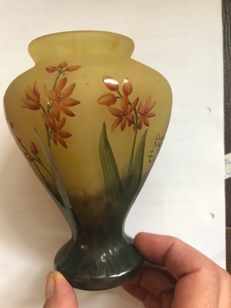 Jugendstil Glas Vase, DAUM NANCY France