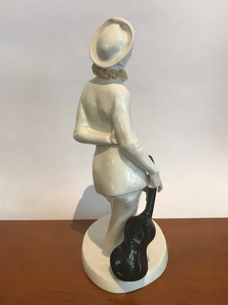 "Porzellanfigur ""Pierrot mit Gitarre"", KPM Berlin nach 1910, Josef Wackerle (1880-1953)"