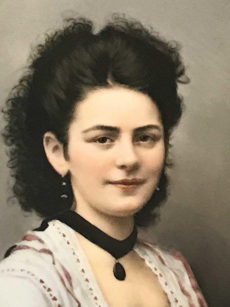 KPM Berlin Bildplatte um 1894, Bildniss einer jungen Frau